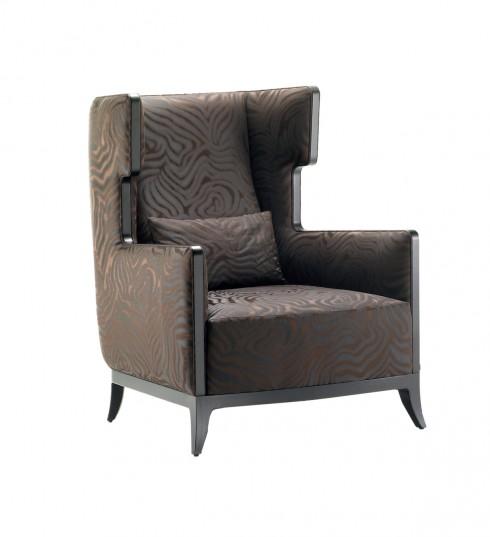 Chất liệu gỗ quý, vải nhung mang đến phong cách sang trọng lẫn sự thoải mái cho không gian.
