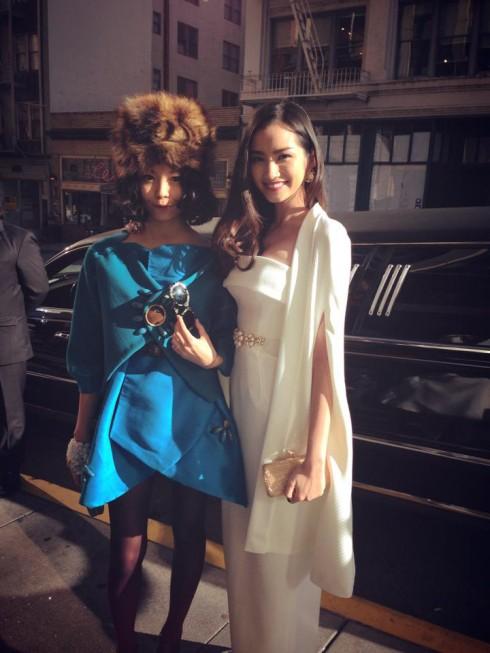 Jane và Trúc Diễm tại một sự kiện ở Los Angeles - nhà thiết kế trẻ Nuchsuda