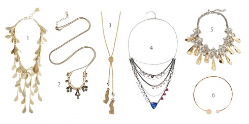 1.BCBGMAXAZRIA 2.Accessorize 3.Banana Republic 4.FCUK 5.Banana Republic 6.Banana Republic