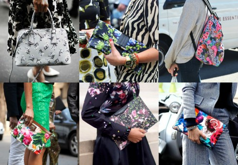 kết hợp quần áo hoa với phụ kiện