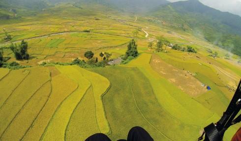 Phong cảnh Tây Bắc nhìn từ trên không trung