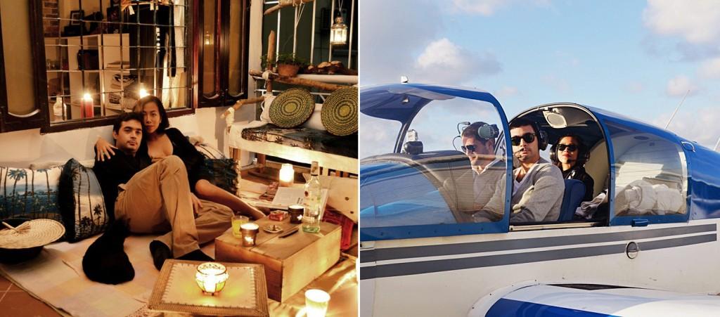 """Terrasse de l'amour"""" (Terrace Love) ghi lại khung cảnh ngoài ban công của YoLy và hình ảnh họ cùng ngồi trên chiếc máy bay thể thao cánh đơn Robin DR400-120 ở Pháp"""