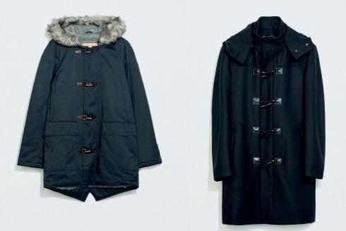 áo khoác mùa đông kiểu duffle