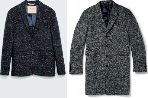 Áo khoác mùa đông bằng vải tweed