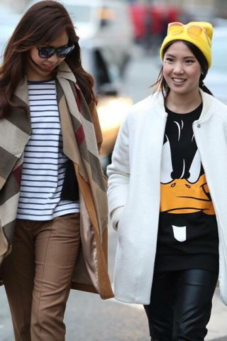 To-Nhu and Atias Huynh at Paris FW2015