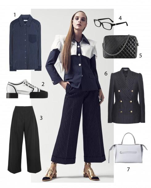 Người mẫu: Trang phục và phụ kiện Chanel 1.Equipment 2.Chanel 3.jil Sander 4.Cartier 5.Chanel 6.Alexander McQueen 7.Céline
