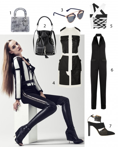 Người mẫu: Trang phục và phụ kiện Givenchy 1.Dior 2.Saint Laurent 3.Dior 4.Alexander Wang 5.Roland Mouret 6.Givenchy 7.Reed Krakoff