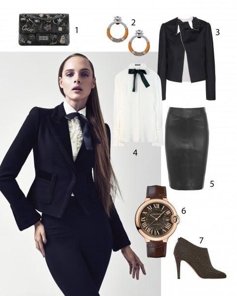Người mẫu: Trang phục và phụ kiện Dolce & Gabbana 1.Chanel 2.Cartier 3.Lanvin 4.Alexander McQueen 5.Joseph 6.Cartier 7.Jimmy Choo