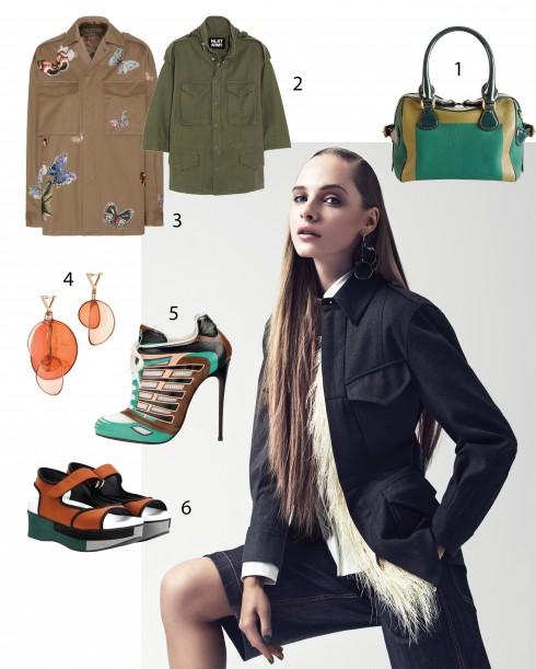Người mẫu: Trang phục và phụ kiện Louis Vuitton 1.Burberry 2.NLST 3.Valentino 4.Louis Vuitton 5.Christian Louboutin 6.Marni