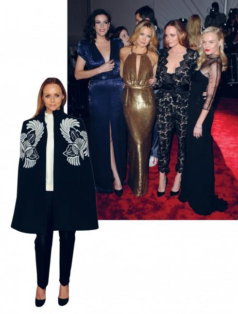 """<Strong>Stella McCartney</strong> <br><br> Cô đã từng nhận 4 giải thưởng từ ESA, bao gồm """"Biểu tượng thời trang"""" (2002), """"Nhà thiết kế của năm"""" (2007 và 2008) và """"Nhà thiết kế toàn cầu"""" (2013). Là con gái của ca sĩ nổi tiếng Paul McCartney nhưng Stella không đi theo con đường ca hát mà lại rẽ hướng theo ngành thời trang.  <br><br> Tốt nghiệp trường thời trang danh tiếng Central Saint Martins, NTK này luôn mang tới những mẫu thiết kế có vẻ đẹp tự nhiên gợi cảm với kỹ thuật cắt may khéo léo, đồng thời luôn làm cho người phụ nữ thấy tự tin với vóc dáng của mình. Stella cũng là NTK tiên phong trong việc thúc đẩy xu hướng thời trang thân thiện với thiên nhiên và môi trường."""