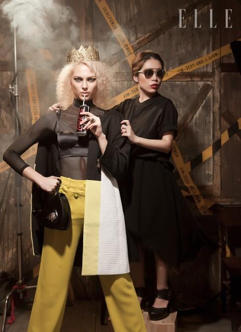 Irena: Áo lót La Perla, Áo khoác, Quần, Túi xách Versace