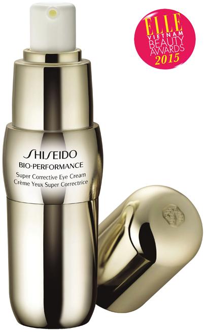 <strong>4. SHISEIDO BIO PERFORMANCE SUPER CORRECTIVE EYE CREAM</strong><br> Kem dưỡng da vùng mắt cao cấp áp dụng công nghệ 3 lớp tác động mới của Shiseido giúp tăng khả năng sản sinh axit hyaluronic tự nhiên của làn da để da luôn căng đầy. Kem cung cấp độ ẩm và tập trung vào các nguyên nhân gây quầng thâm, nám, nếp nhăn và những dấu hiệu tuần hoàn máu kém, sắc da không đều của vùng da nhạy cảm quanh mắt, mang đến sự tươi sáng cho đôi mắt sau 3 tuần sử dụng.<br> <em>Giá: 1.310.000 VNĐ</em>