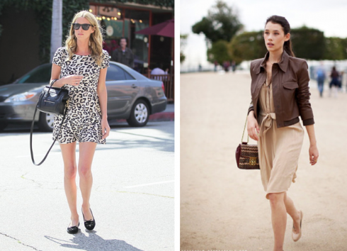 how-to-dress-feminine-dress-ballet-flats