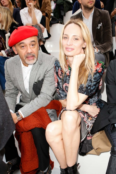 Nhà thiết kế giày Christian Louboutin và biên tập thời trang Lauren Santo Domingo