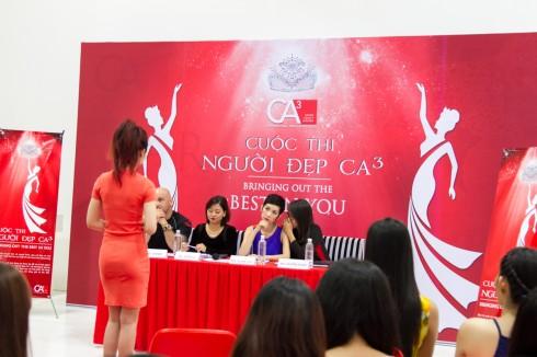 Vòng thi phỏng vấn của cuộc thi người đẹp CA3