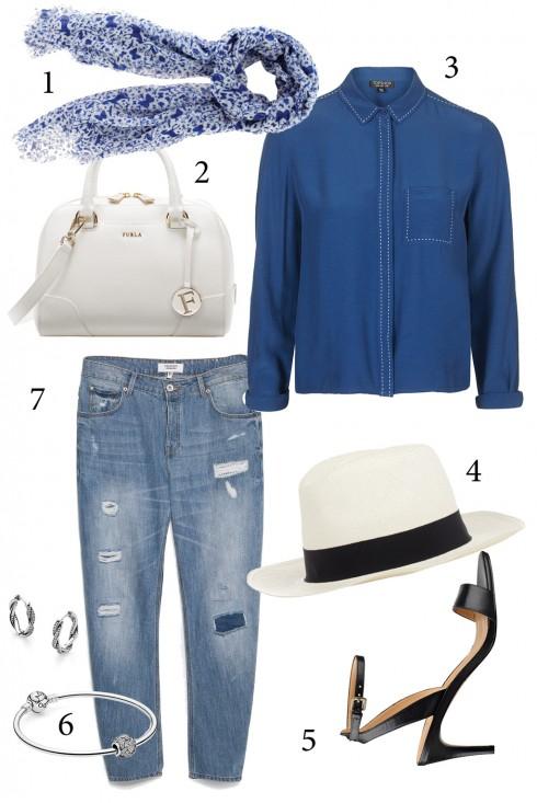 Thứ 2: Kết hợp áo sơmi chất liệu cùng chiếc quần jeans boyfriend sẽ cho bạn một diện mạo mới khác biệt.<br/>1. OASIS 2. FURLA 3. TOPSHOP 4. HAT ATTACK 5. NINE WEST 6. PANDORA 7. MANGO