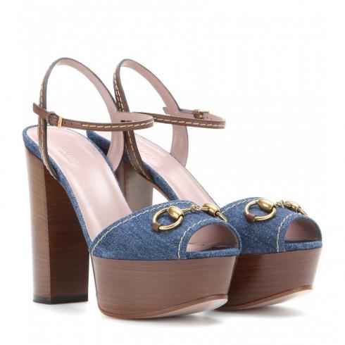 Giày sandal đế xuồng Gucci