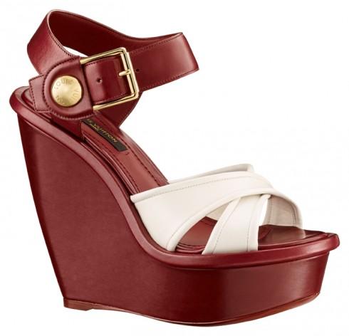 Giày sandal đế xuồng Louis Vuitton