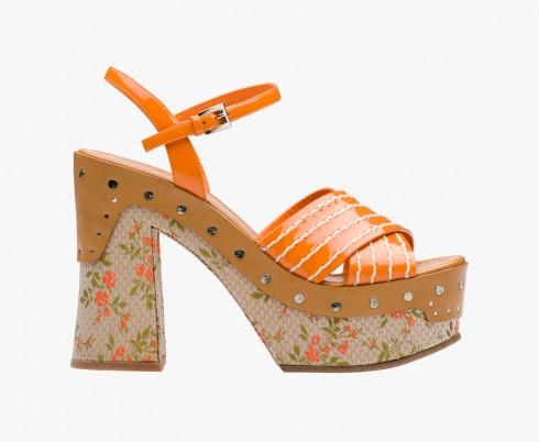 Giày sandal đế xuồng Prada