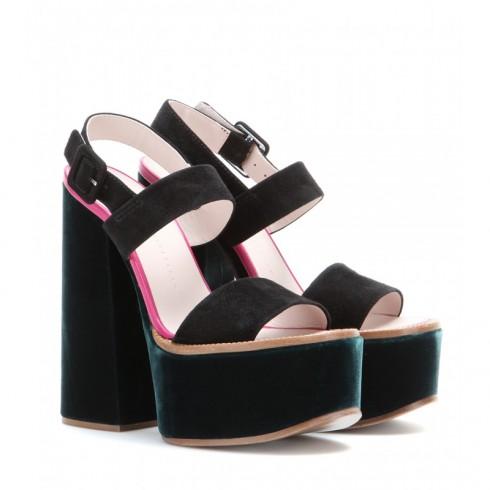 Giày sandal đế xuồng Victoria Beckham