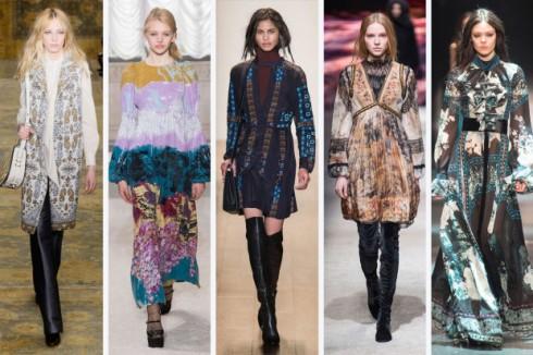 Mùa thời trang Thu - Đông 2015 các nhà mốt đã cho ra mắt rất nhiều BST mang âm hưởng của Bohemian hiện đại, sống động và thời thượng hơn bao giờ hết. ( Từ trái qua phải: Tory Burch, Giamba, BCBG Max Azria, Alberta Ferretti, Roberto Cavalli)