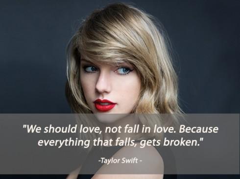 Câu nói hay về tình yêu của Taylor Swift