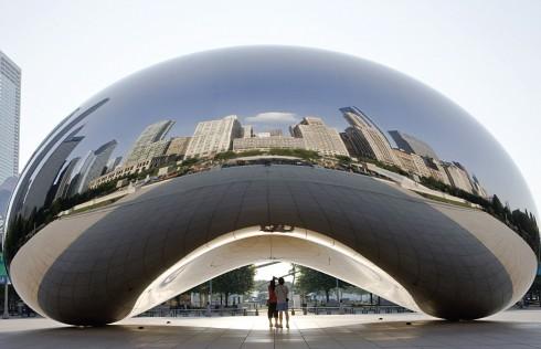 Công trình thiết kế hình hạt đậu Cloud Gate tại Chicago