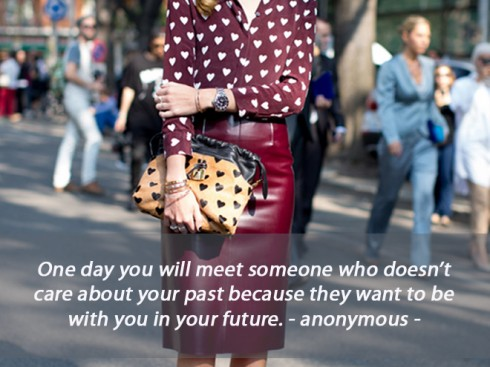 One day you will meet someone ...