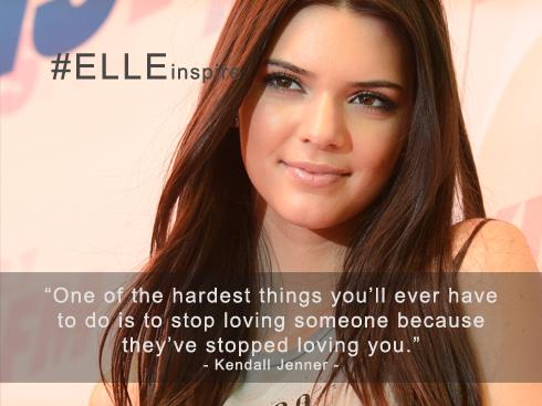 Những câu nói hay về tình yêu của Kendall Jenner