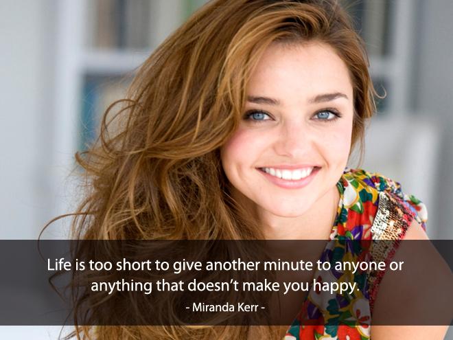 Câu nói hay về tình yêu của Miranda Kerr