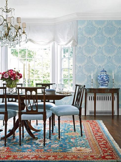 trang trí nhà cửa theo tông màu xanh nước biển
