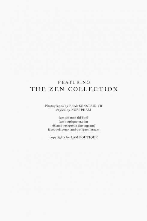 Nhóm thực hiện cho Zen Collection<br/>Zen Collection Look Book 2015