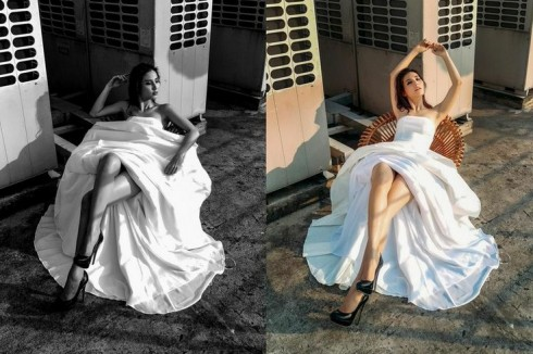2Phong cách thời trang đã trở thành thương hiệu của Adrian Anh Tuấn là sự sang trọng - thanh lịch.