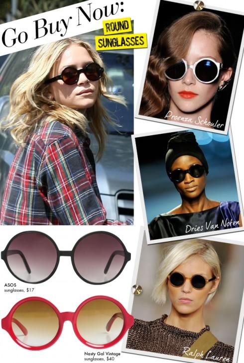Mắt kính thời trang dáng tròn là một trong những món phụ kiện Xuân - Hè năm nay