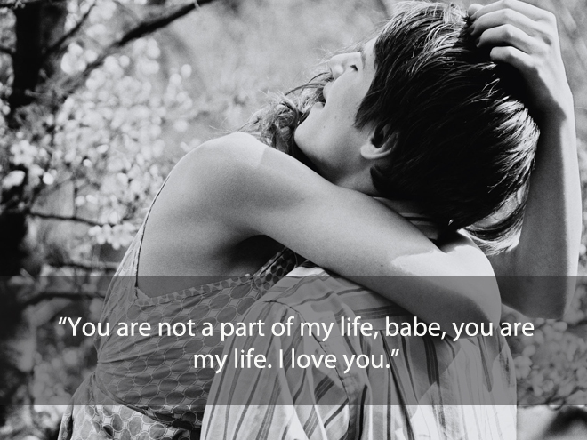 You are not a part of my life