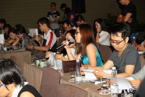 Các cơ quan báo chí dự họp đông đủ trong buổi họp báo
