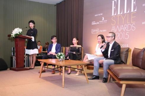Đại diện Ban tổ chức và Ban cố vấn của Elle Style Award Vietnam 2015