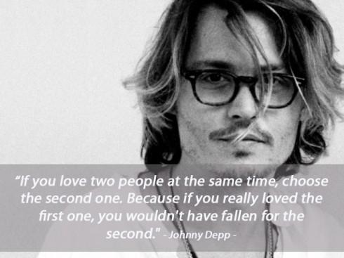 Câu nói nổi tiếng của Jonny Depp về tình yêu