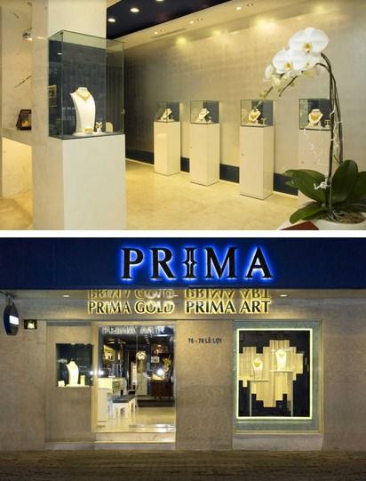 Khung cảnh cửa hàng Prima Gold tại Lê Lợi