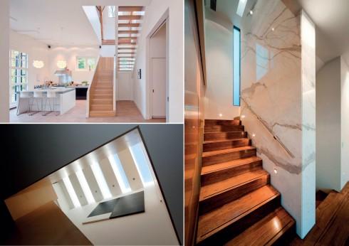 Kết hợp khéo léo việc chiếu sáng kiến trúc toàn diện và chiếu sáng cục bộ cho căn bếp.