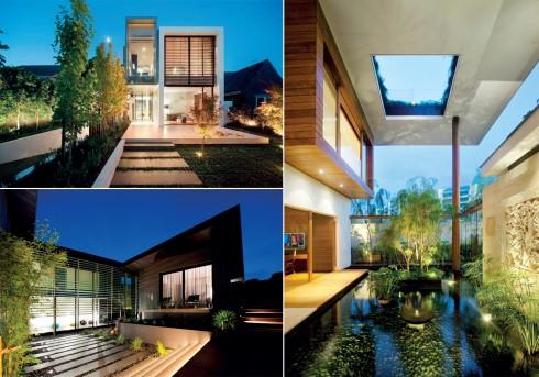 Chiếu sáng cho nhà vườn phải bám sát vào thiết kế và độ ưu tiên của công năng và thẩm mỹ.