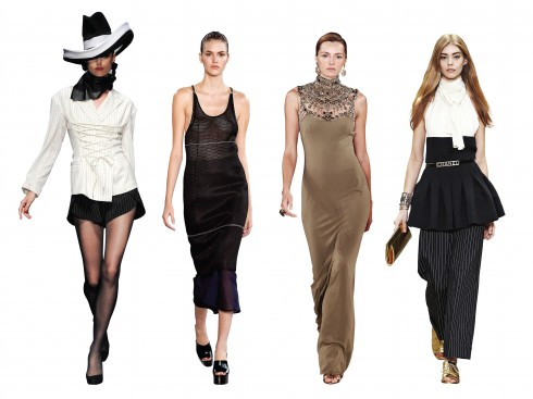 Từ trái qua: Jean Paul Gaultier, Calvin Klein, Ralph Lauren, Chanel