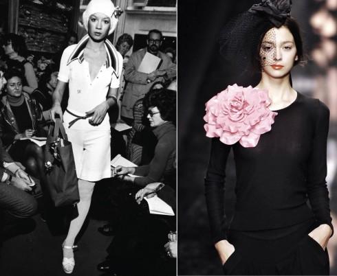 Mẫu thiết kế của Sonya Rykiel năm 1972 và 2006