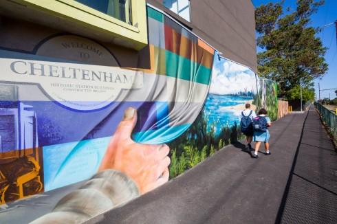 Vẽ tranh trên tường cũng là một hình thức của Public Art