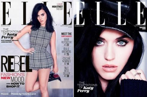Katy Perry lộng lẫy trên bìa báo ELLE