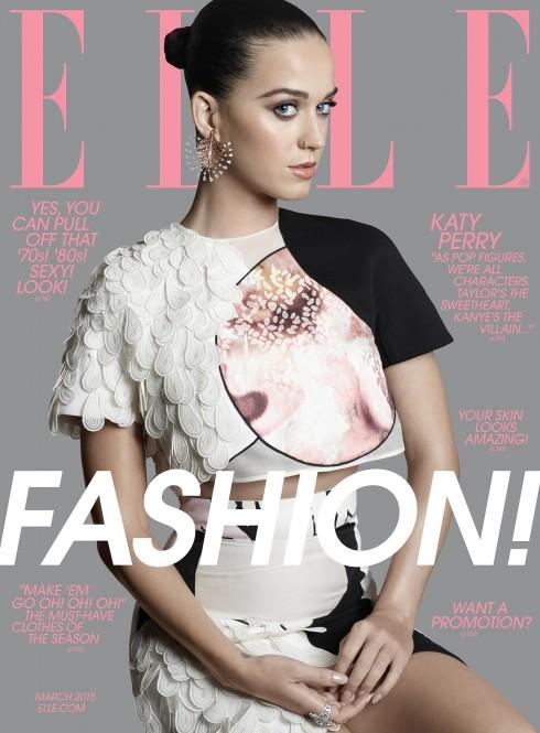 Katty Perry trên bìa báo của tạp chí ELLE