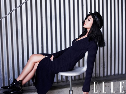 katy perry on elle magazine cover