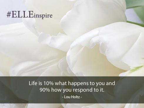 """""""Cuộc sống chỉ mang lại cho chúng ta 10% cơ hội, 90% còn lại là do chúng ta trải nghiệm thế nào với nó."""" - Lou Holtz"""