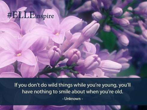 """""""Khi còn trẻ nếu bạn không dám làm những điều điên rồ, bạn sẽ không có gì để mỉm cười nhớ về khi bạn đã trưởng thành và già đi."""" - Khuyết danh."""