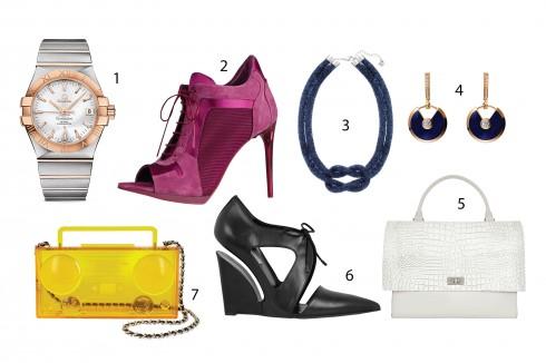 Kết hợp với: 1.Omega 2.Burberry 3.Swarovsky 4.Cartier 5.Givenchy 6.Balenciaga 7.Moschino